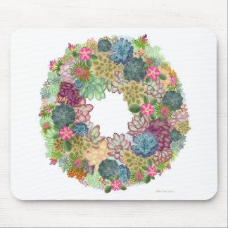 Desert Succulent Wreath Mousepad