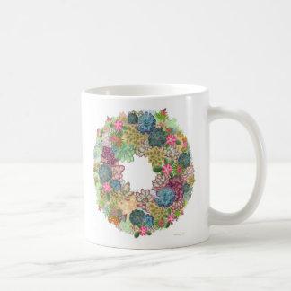 Desert Succulent Wreath Mug