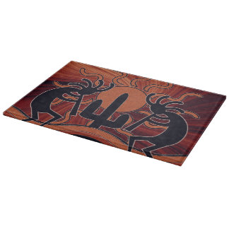Desert Sun Cactus Kokopelli Southwest Cutting Board