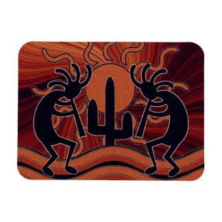 Desert Sun Cactus Kokopelli Southwestern Design Magnet