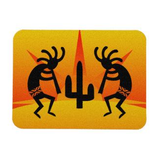 Desert Sun Cactus Kokopelli Southwestern Magnet