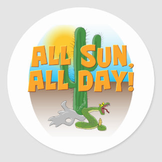 Desert Sun Stickers
