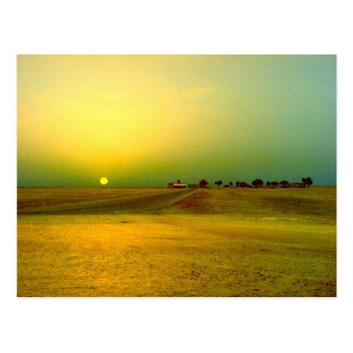 Desert Sunrise Collage Postcard