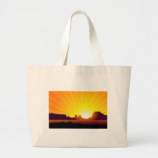 Desert Sunrise Large Tote Bag