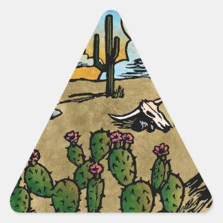 Desert Sunrise Triangle Sticker