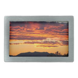 Desert sunset Belt buckle