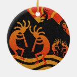 Desert Sunset Kokopelli Southwest Ceramic Ornament