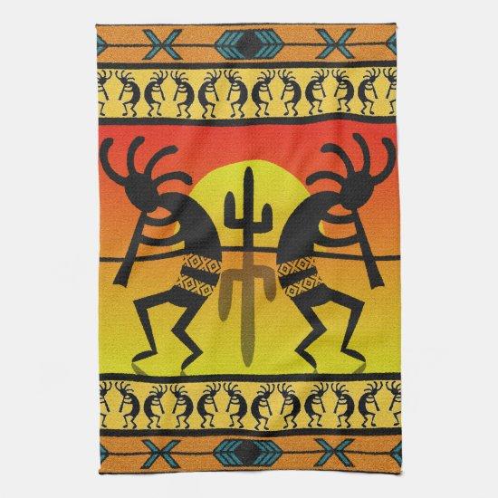 Desert Sunset  Kokopelli Southwest Towel