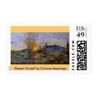 'Desert Sunset' postage