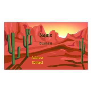 Desert Sunset Red Rock Business Card