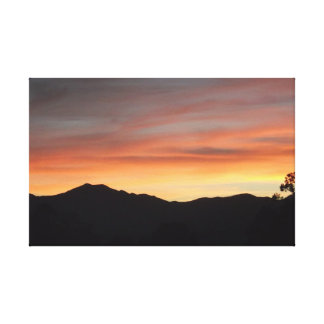 Desert Sunset Scenic Mountain View 3D Canvas Prints