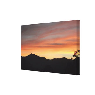 Desert Sunset Scenic Mountain View 3D Canvas Print