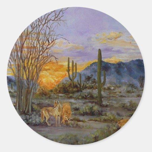 'Desert Sunset' stickers