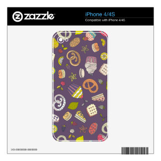 Desert & Sweets Pattern Skin For iPhone 4