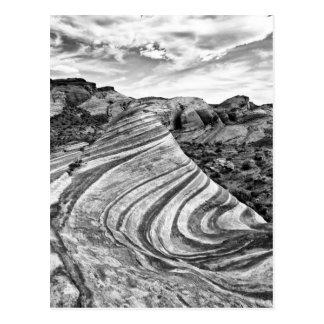 Desert Swirl BW Post Cards