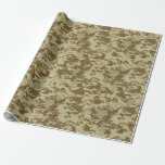 Desert Tan Camouflage Wrapping Paper