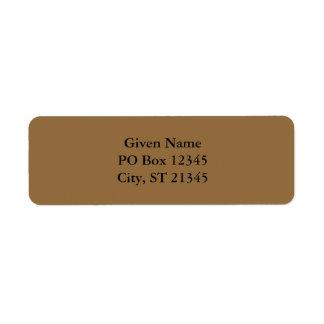 Desert Tan Return Address Labels