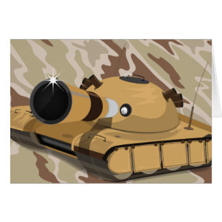Desert Tank Greeting Card