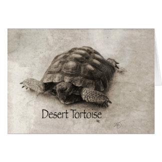 Desert Tortoise Blank Greeting Card