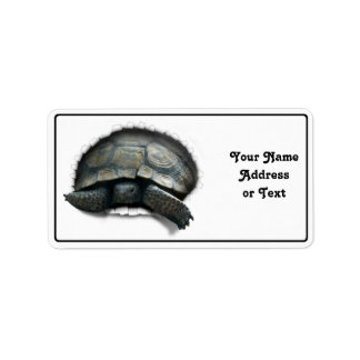 DESERT TORTOISE COMING OUT! PERSONALIZED ADDRESS LABEL