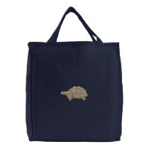 Desert Tortoise Embroidered Tote Bag