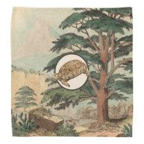 Desert Tortoise In Natural Habitat Illustration Bandana