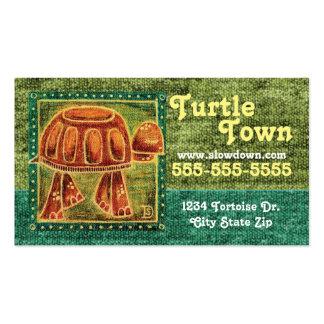 Desert Tortoise in Oil Pastel Business Card