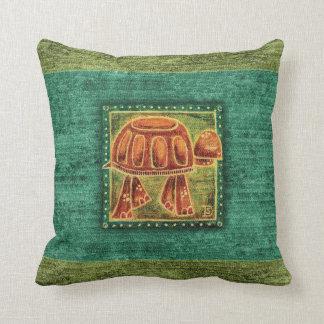 Desert Tortoise in Oil Pastel Throw Pillow