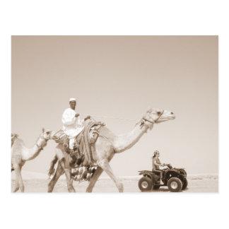 desert transportation postcards