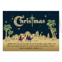 Desert Travelers Christian Christmas Card w/Verse