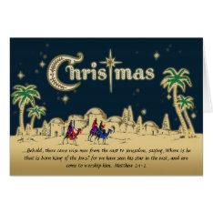 Desert Travelers Christian Christmas Card W/verse at Zazzle
