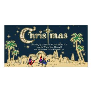 Desert Travelers Flat Christmas Greeting Card