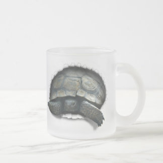 DESERT TURTLE,  COMING AT YA 10 OZ FROSTED GLASS COFFEE MUG