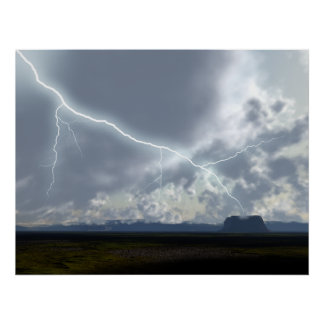 Desert Valley Storm Clouds Poster