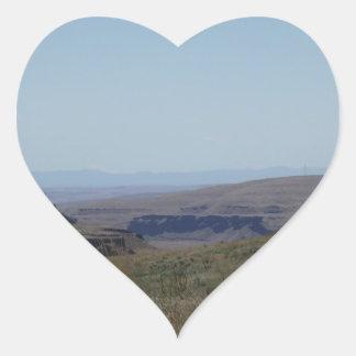 Desert View Heart Sticker
