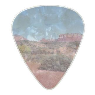 Desert Vista Pearl Celluloid Guitar Pick