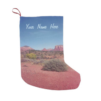 Desert Vista Personalized Small Christmas Stocking
