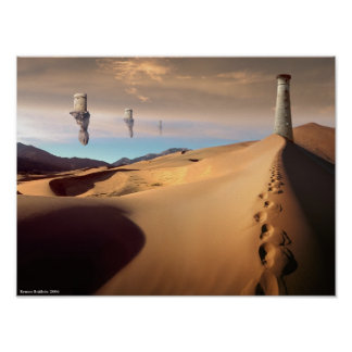 Desert Watchtower Poster