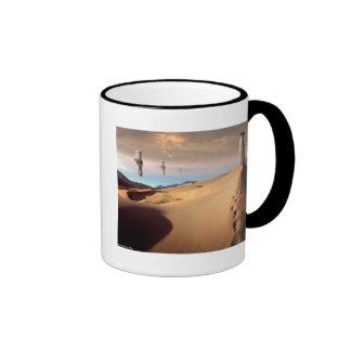 Desert Watchtower Ringer Coffee Mug