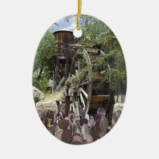Desert Water Wheel Ceramic Ornament
