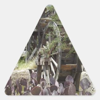 Desert Water Wheel Triangle Sticker