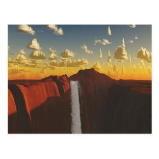 Desert Waterfall Post Card