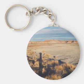 Desert Wave: Petrified Forest National Park Basic Round Button Keychain