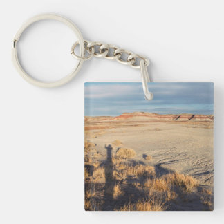 Desert Wave: Petrified Forest National Park Double-Sided Square Acrylic Keychain