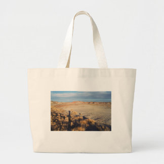 Desert Wave: Petrified Forest National Park Large Tote Bag