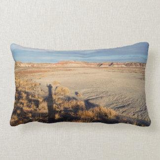 Desert Wave: Petrified Forest National Park Lumbar Pillow