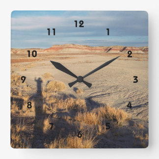 Desert Wave: Petrified Forest National Park Square Wall Clock