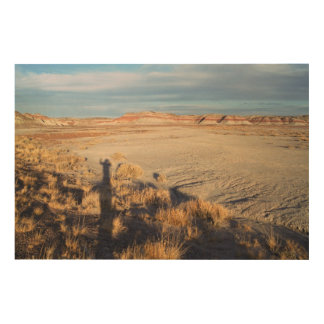 Desert Wave: Petrified Forest National Park Wood Print