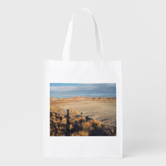 Desert Wave: Petrified Forest National Park Grocery Bag