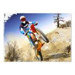 Desert Wheelie Motocross 5x7 Paper Invitation Card